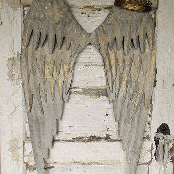 Angel Wing Wall Decor, Large Angel Wings, Metal Angel Wings, Angel Wings, Angel Decor, Angel Wings Wall Art, Angel Wing Art, Nursery Decor