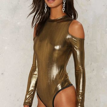 Glamorous Gold as Love Cut-Out Bodysuit