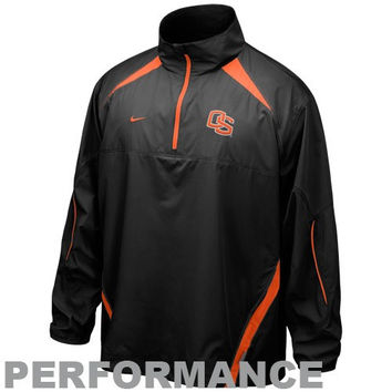 Nike Oregon State Beavers Black Storm-FIT 1/4 Zip Performance Jacket