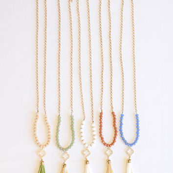 Stroke of Luck Tassel Necklace