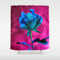 La rose evasive de bleu - the elusive blue rose Shower Curtain by Bruce Stanfield