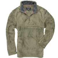 Pebble Pile Pullover 1/2 Zip in Gravel by True Grit - FINAL SALE