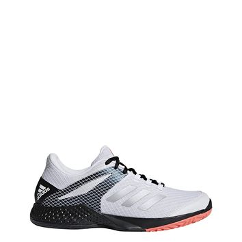 adidas Men`s Adizero Club 2 Tennis Shoes White and Matte Silver-(AH2108-F18)