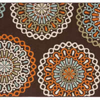 Dewey Outdoor Rug, Chocolate, Area Rugs