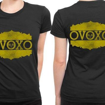Drake Ovo Logo Gold 2 Sided Womens T Shirt