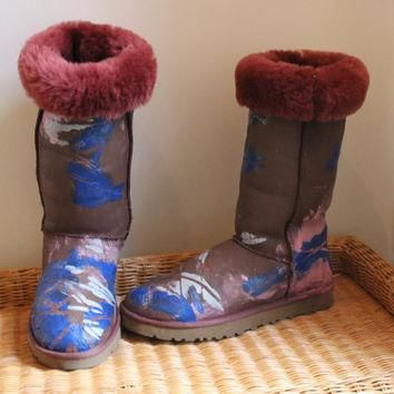 Ugg Boots Painted Big Bang Theory Penny size 10 Penny Penny Penny
