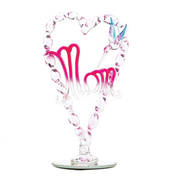 CHERISHED MOTHER GLASS FIGURINE