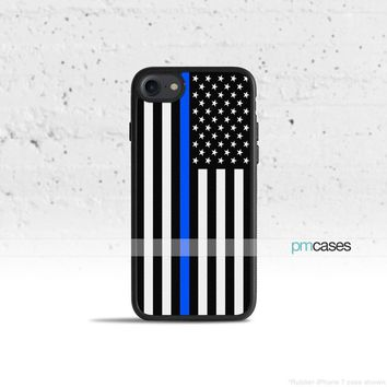 A Thin Blue Line Flag Phone Case Cover for Apple iPhone iPod Samsung Galaxy S & Note
