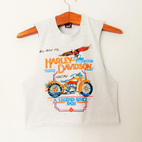 Vintage 1990s Harley Davidson Key West Florida Crop Top