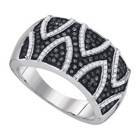 Diamond Fashion Ring in Sterling Silver 0.65 ctw