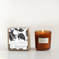 Spiked Apple Cider Amber Glass Candle