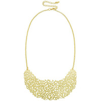 Statement Necklace With Floral Cutout Design