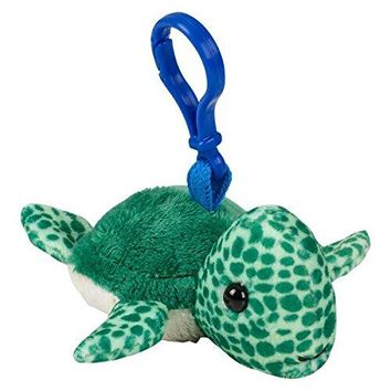 Wildlife Tree Sea Turtle Plush 3.5 Inch Stuffed Animal Backpack Clip Toy Keychain Wildlife Hanger Party Favor Pack of 12