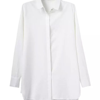 Summer Women's Fashion Long Sleeve Shirt Jacket [5013242052]