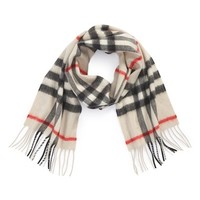 Girl's Burberry Heritage Check Cashmere Scarf