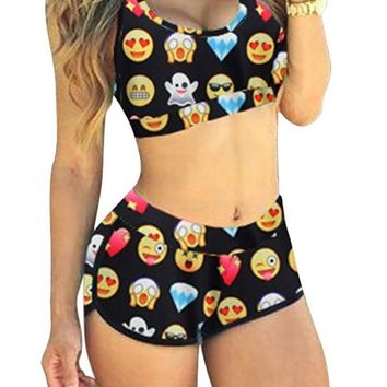 SEXYARN Women's 2015 Bandage Sporty Bathing Suit Boyleg Short Swimwear Swimsuit