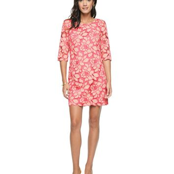 Bi Color Lace Bi Color Exploded Lace Shift Dress by Juicy Couture,
