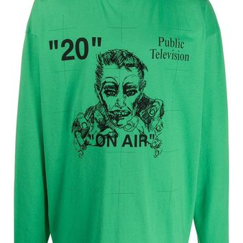 """Green """"On Air"""" Public Television Long Sleeve Shirt by OFF-WHITE"""