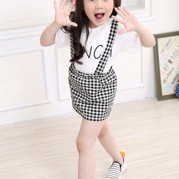 Gingham Dungaree Dress