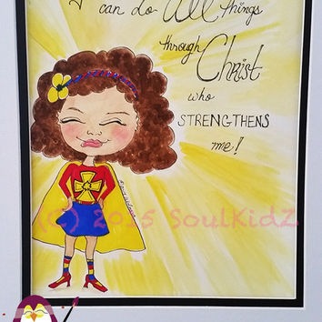 Superhero. Wall ART by SoulKidZ ~ I Can Do ALL Things