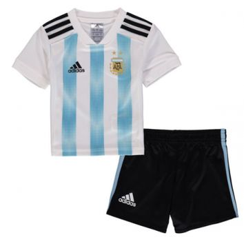 KUYOU Argentina 2018 World Cup Home Kids(Youth) Kit Personalized Name and Number