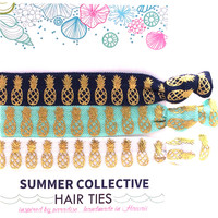 Summer Collective -  Pineapple Hair Ties | Navy
