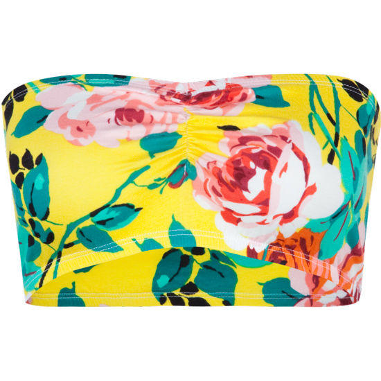 Summer Floral Bandeau Yellow  In Sizes