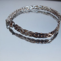 "Celtic Woven Style Sterling Silver Bracelet, 7 Inch, 3/16"" Wide, Fine Precious Metal Ladies Jewelry, Free Shipping and Gift Box"