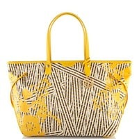 Disturbed Stripe XL Floral Travel Tote