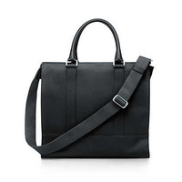 Tiffany & Co. - Wyatt tote in onyx grain leather. More colors available.