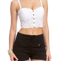 Suzette Eyelet Cropped Top