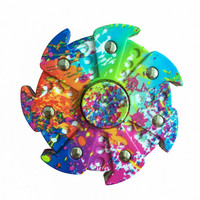 New Multicolor Creative Fidget Spinner Hand Spinner EDC Synthetic Resin Tri-Spinner Relieve Stress H
