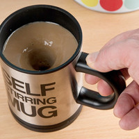 Stainless Steel Self Stirring Mug-Be careful with ur big nose