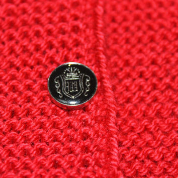 Hand Knitting Black and Red Children 's Vest / Made to Order / Size : Newborn and 4 years