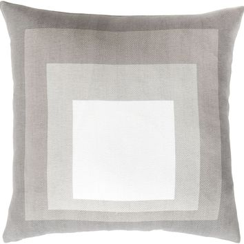 Teori Throw Pillow Neutral, Gray