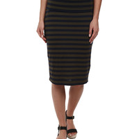 Splendid Stripe Skirt Olivine - 6pm.com