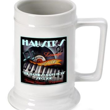 16oz. Ceramic Beer Stein - Piano Lounge