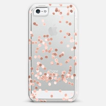 LIMITED EDITION ROSE GOLD FAUX GLITTER TRANSPARENT by Monika Strigel for iPhone 6 iPhone 5 case by Monika Strigel | Casetify