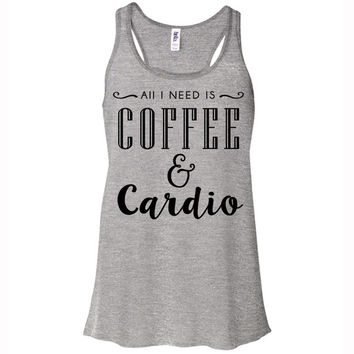 Coffee And Cardio Tank Top Racerback