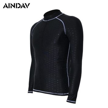 Professional Men Women Wetsuit Long Sleeve Swimsuit Sunscreen UV Swimming Shirts Diving Suit Black Surfing Board Rush Guard
