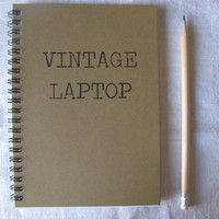 Vintage Laptop - 5 x 7 journal