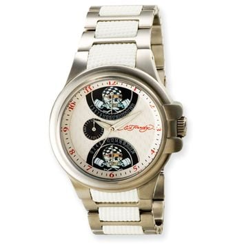 Mens Ed Hardy Speeder White watch