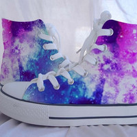 Custom Converse Galaxy Converse Sneakers Hand-Painted On Converse Shoes Canvas shoes