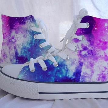 Galaxy Custom Converse  Converse Sneakers Hand-Painted On Converse Shoes  Canvas shoes