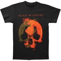 Alice In Chains Men's  Fetal 2014 Tour T-shirt Black Rockabilia