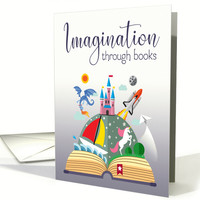 Imagination Imagery for School Librarian Day card