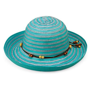 Wallaroo Women's Breton Sun Hat - UPF 50+ - Packable, Turquoise