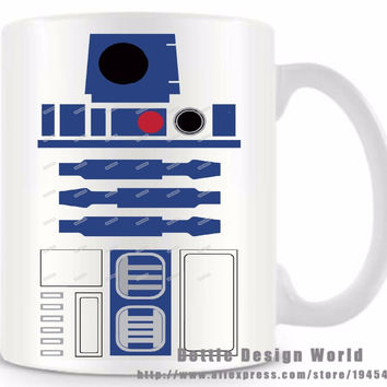 STAR WARS R2-D2 Ceramic coffee tea milk mug cup funny novelty travel mug personalized Birthday Easter gifts free shipping