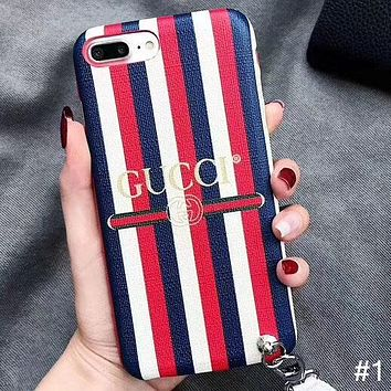 GUCCI tide brand lanyard iphoneXS MAX mobile phone case #1