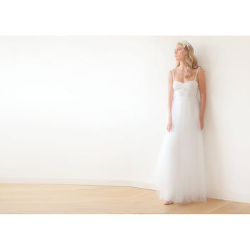 Ivory maxi ballerina tulle wedding dress